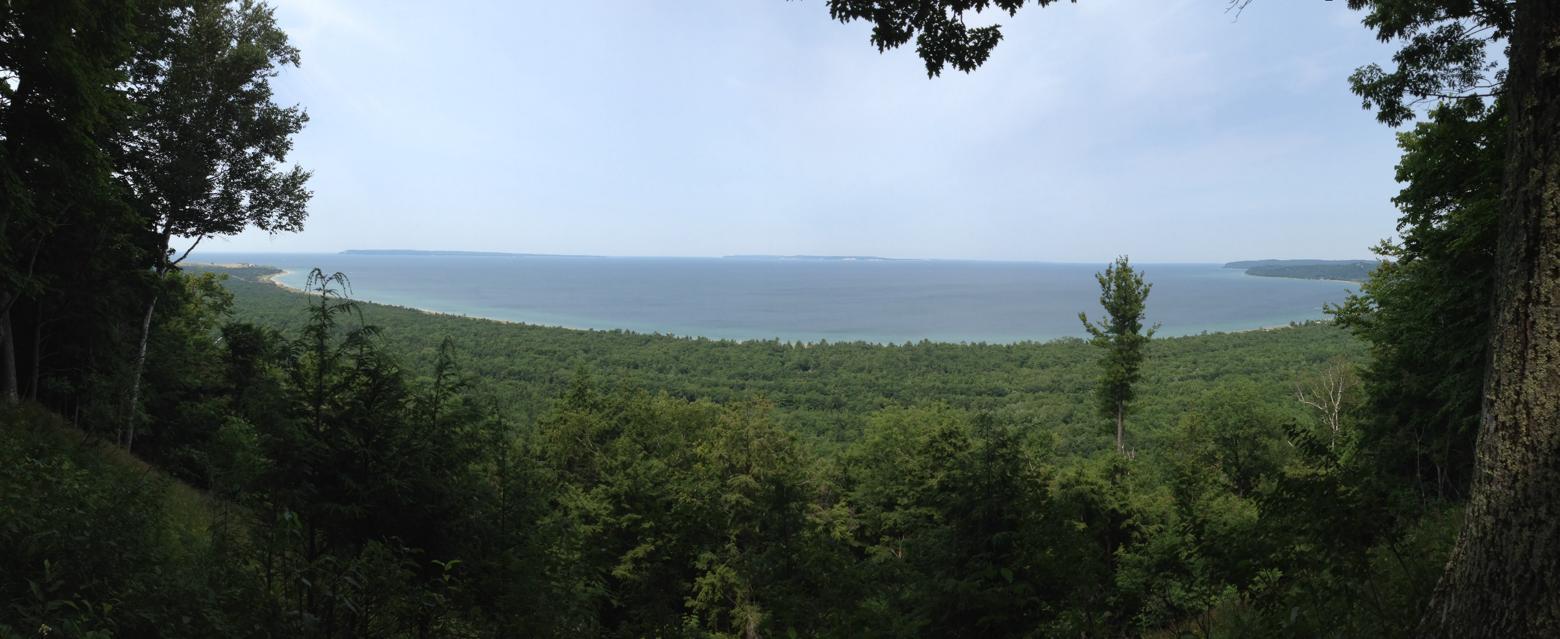 Hiking Alligator Hill Leelanau County