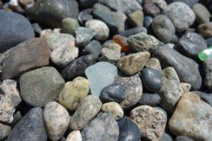 Beach Glass on rocky beach