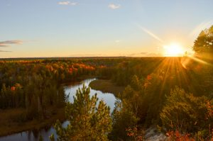 The High Banks of the Au Sable River in Autumn
